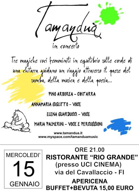 Tamanduà in Concerto al Rio Grande!