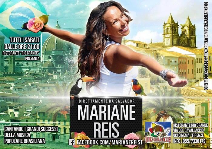 Il Sabato Serata Brasiliana al Rio Grande con Mariane Reis