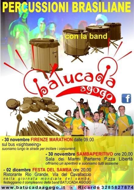Percussioni Brasiliane al Rio Grande Firenze il 2 Dicembre!