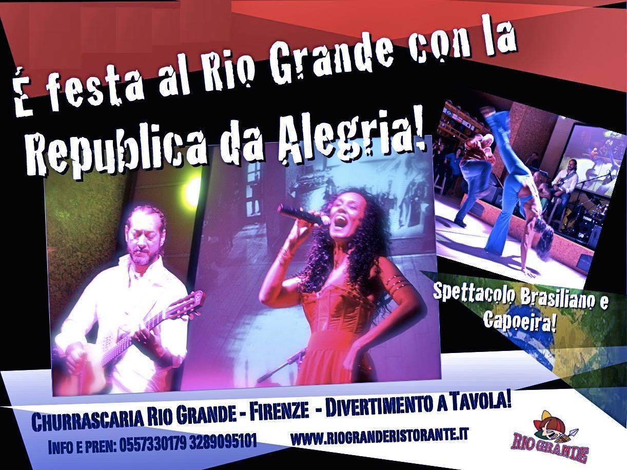 Sabato 14 marzo torna República da Alegria al Rio Grande!