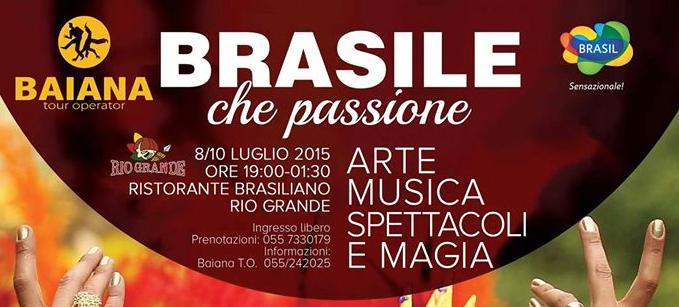 Brasile che passione arte musica spettacoli a Firenze!